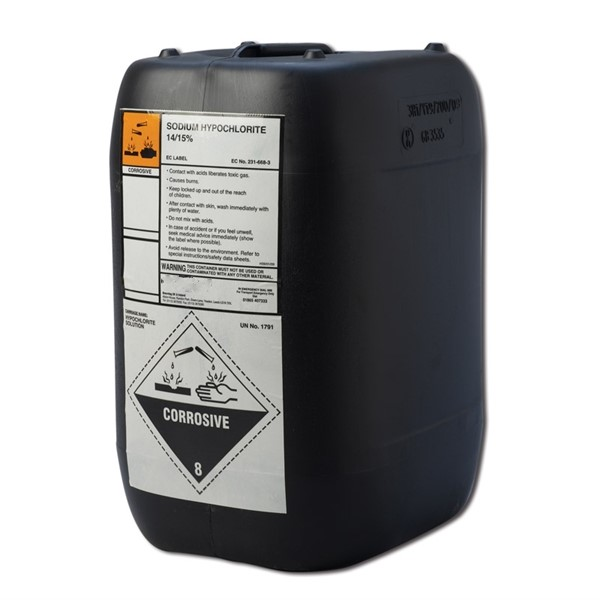Sodium Hypochlorite 14 15 20ltr Concept Pools