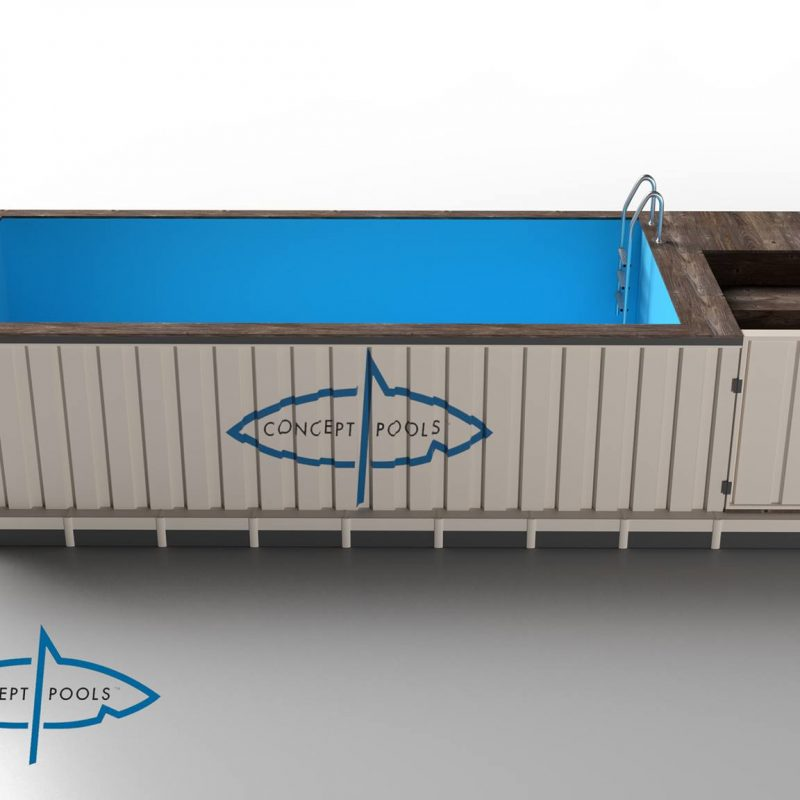 40ft container pool concept pools. Black Bedroom Furniture Sets. Home Design Ideas