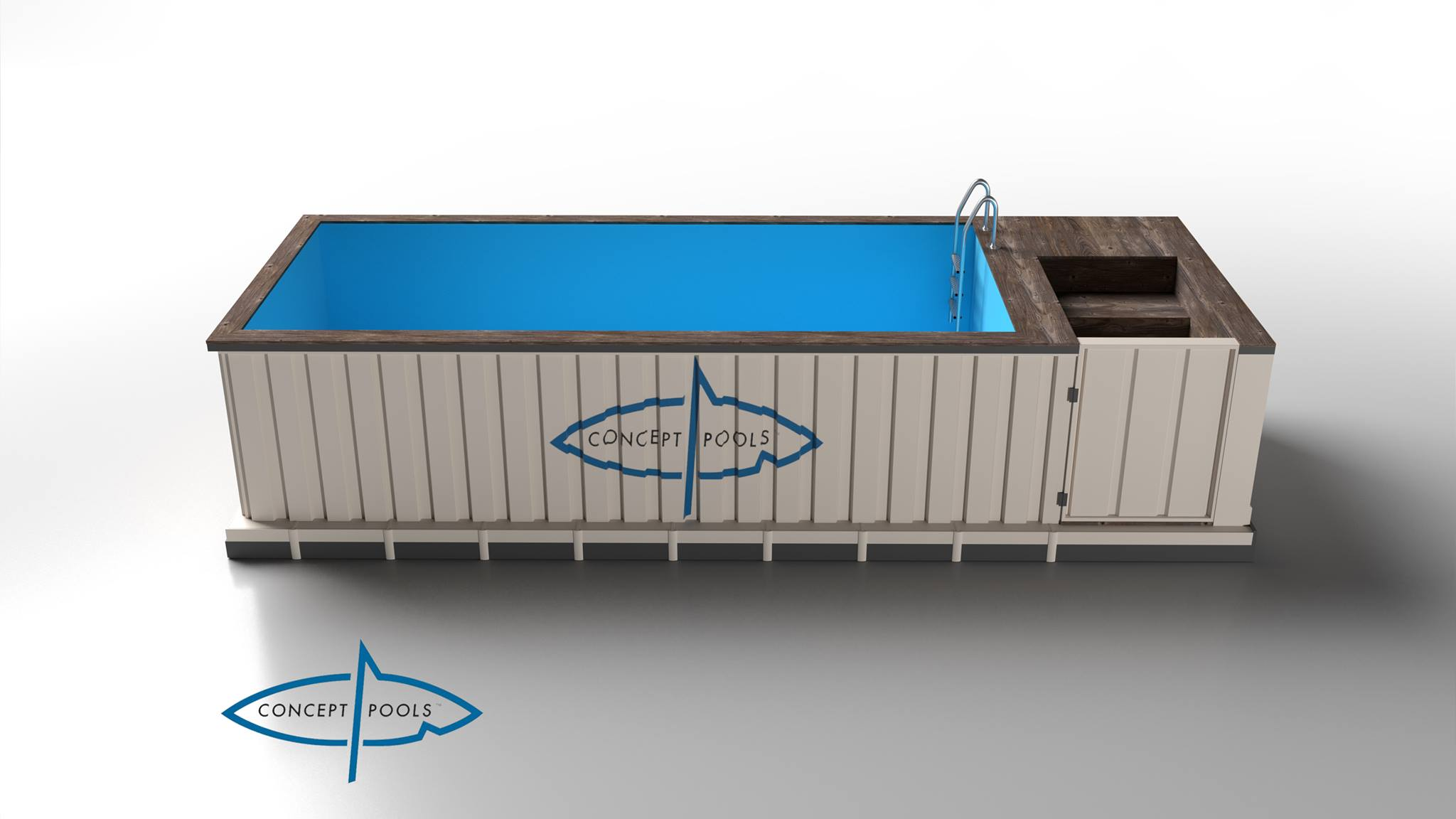 container als pool containerpools event highlight und garten schwimmbad shipping container. Black Bedroom Furniture Sets. Home Design Ideas